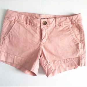 American Eagle Pale Pink Chino Shorts